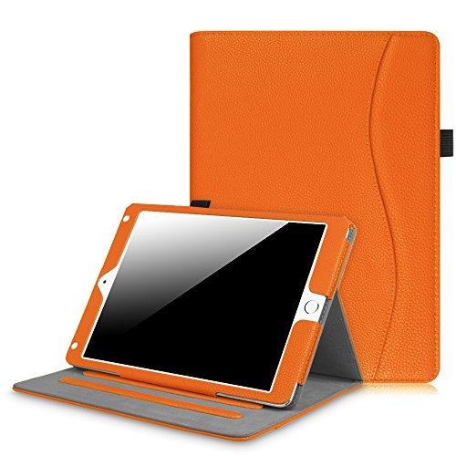 Fintie iPad 9.7 Inch 2017 / iPad Air 2 / iPad Air Case - [Corner Protection] Multi-Angle Viewing Folio Stand Cover w/ Pocket, Auto Wake / Sleep for Apple iPad 2017 Model, iPad Air 1 2, Orange