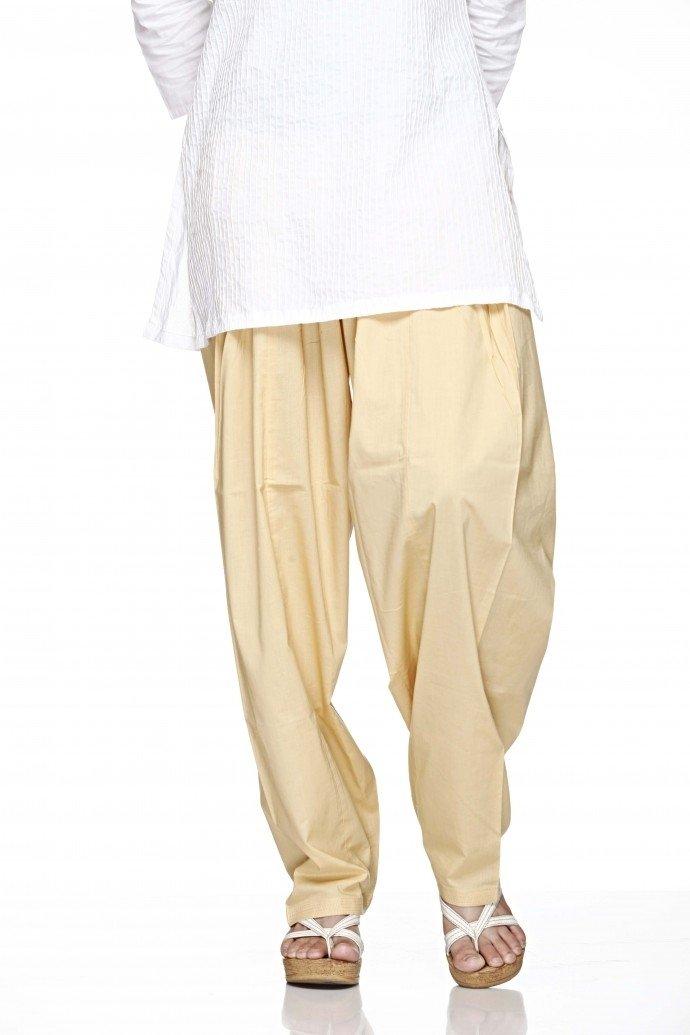 Cotton Plain Indian Salwar Pants in Several Colour - Kameez Yoga Dress