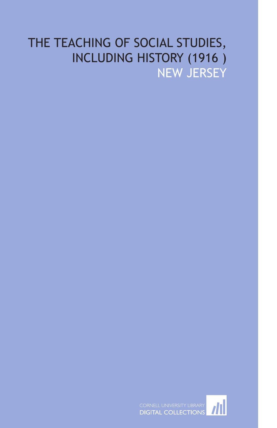 Download The Teaching of Social Studies, Including History (1916 ) pdf epub