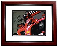 Michael Schumacher Signed - Autographed Formula One Driver 4x6 inch Photo - MAHOGANY CUSTOM FRAME - Guaranteed to pass or JSA - PSA/DNA Certified from Real Deal Memorabilia