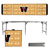 NCAA Wesleyan University Cardinals Basketball Court Version Folding Tailgate Table, 8'