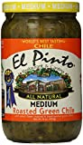 salsa el pinto - El Pinto Roasted Green Chile, Medium, 16 Ounce (Pack of 6)