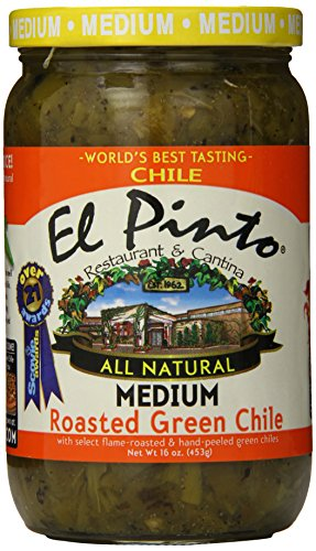 - El Pinto Roasted Green Chile, Medium, 16 Ounce (Pack of 6)