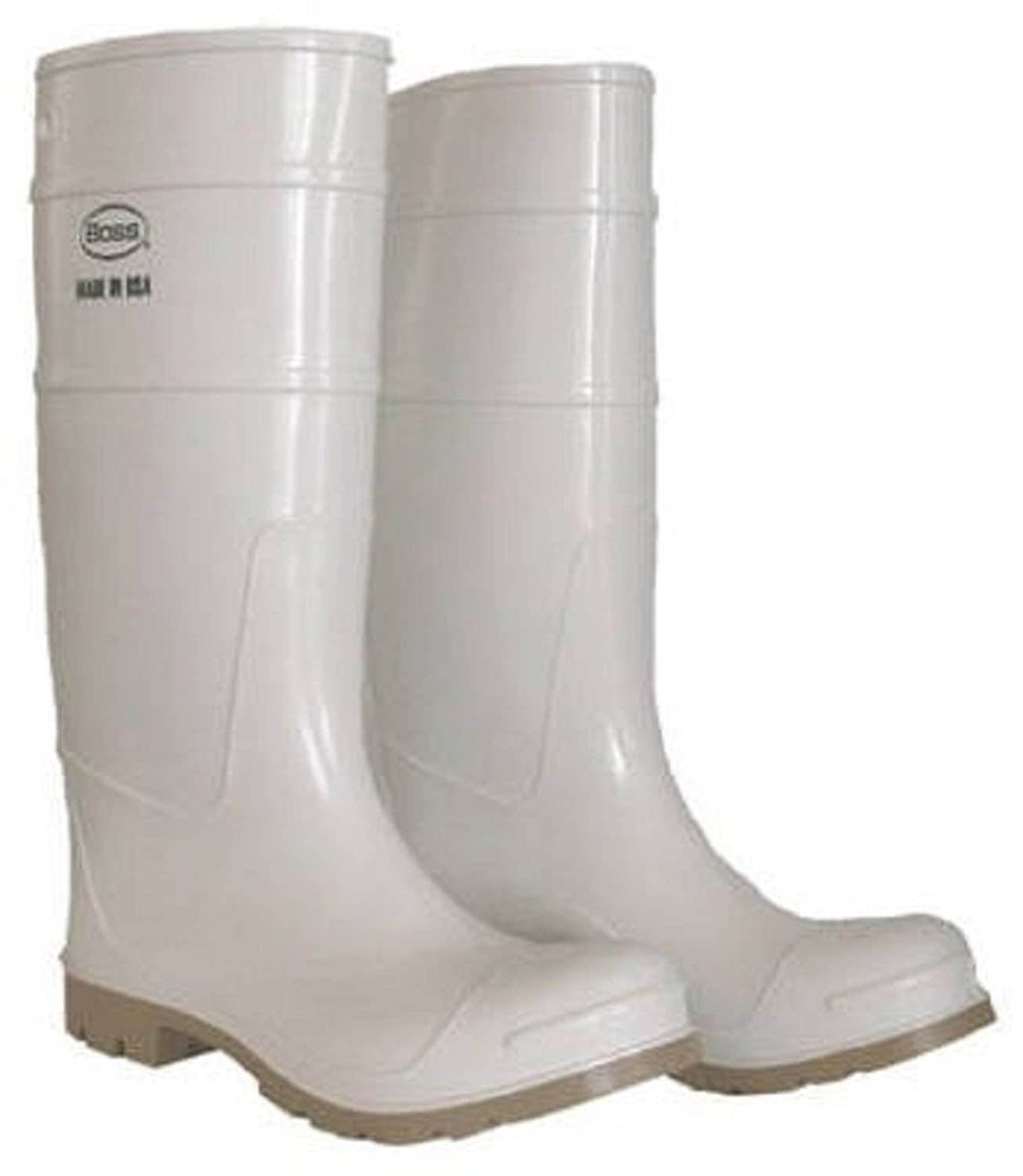 cheap Boss Mfg 2PP192406 16 in. PVC Over The Sock Boot - Size 644; White on sale