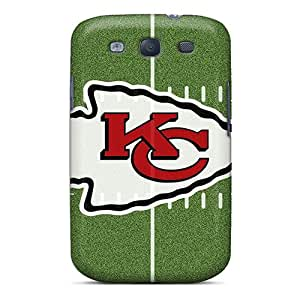 Shockproof Hard Phone Cover For Galaxy S3 With Support Your Personal Customized High Resolution Kansas City Chiefs Pattern CassidyMunro
