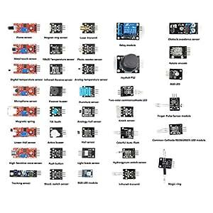SainSmart 37 in 1 Sensor Module Kit for Arduino UNO R3 Mega2560 Mega328 Nano Raspberry Pi