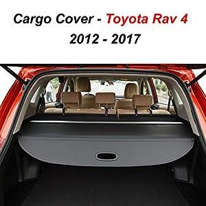 Amazon.com: Toyota Rav4 Black Retractable Tonneau Cargo