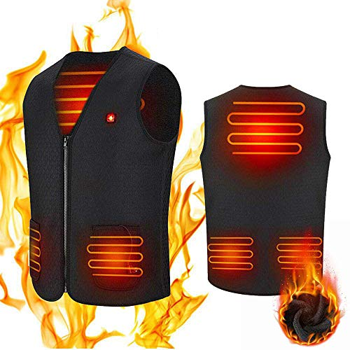 Electric Heated Vest for Men Women, USB Rechargeable Lightweight Heated Waistcoat,Washable Winter Warm Gilet with 3 Temperature for Hiking, Hunting, Motorcycle Golf