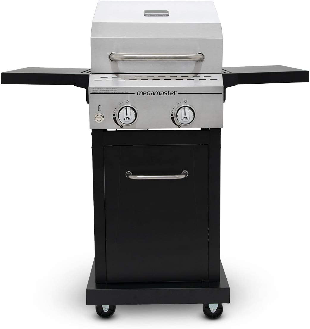 Megamaster 720-0864MA Propane Gas Grill, Stainless Steel Black