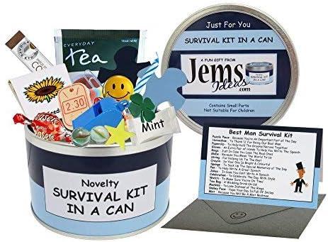 Kit de supervivencia de padrinos de boda en lata. Divertido regalo; regalo y tarjeta de agradecimiento para padrinos para el día de la boda. Regalos para él / regalos para hombres