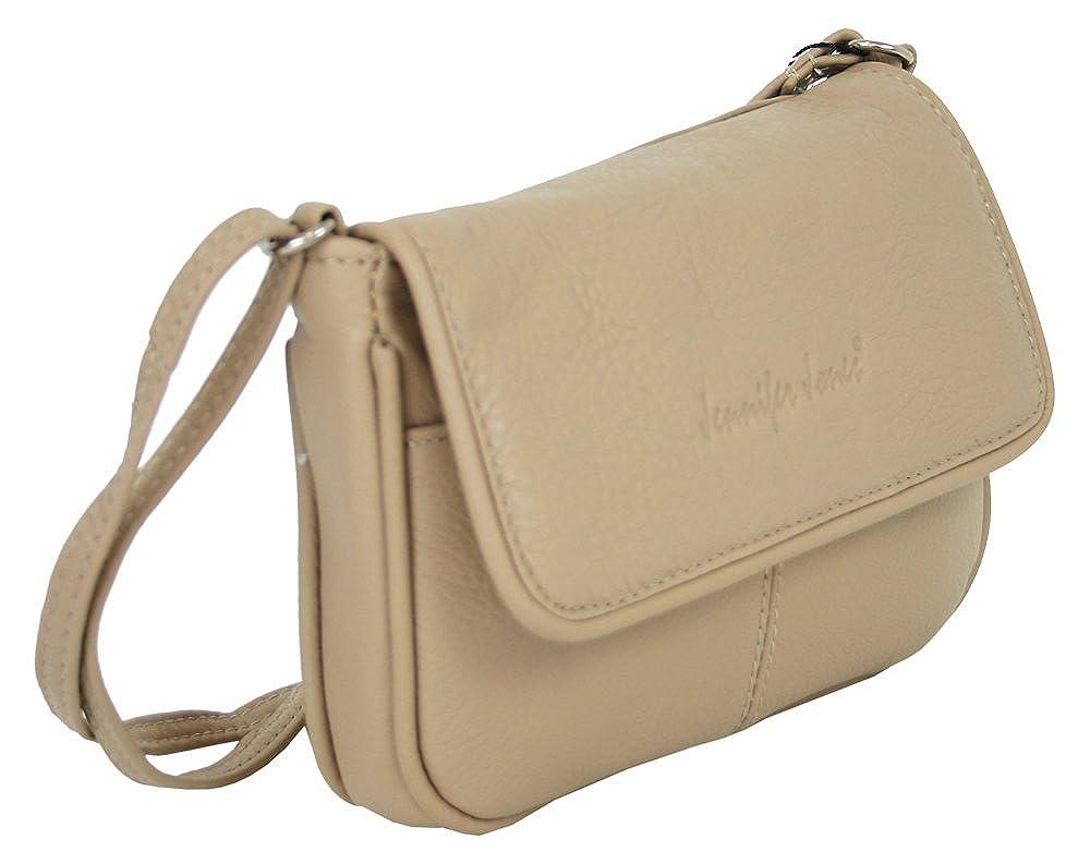 7012c3cad1a626 6223 Jennifer Jones Leder Damen Schultertasche Kleine Umhängetasche für Frauen  Handtasche beige auch crossbody bag kleine crossover ...