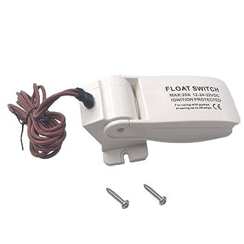 Sharplace Interruptor Flotador Control de Nivel de Agua de Barco Marino Electrónico para Bomba de Achique