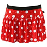 Red and White Polka Dot Sparkle Running Skirt