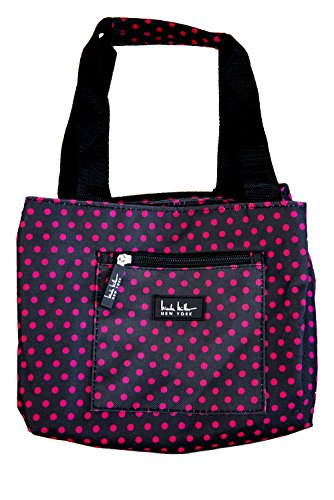 nicole-miller-of-new-york-insulated-lunch-cooler-black-pink-polka-dots-11-lunch-tote