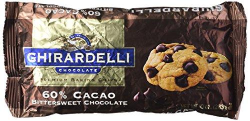- Ghirardelli Chocolate Premium Baking Chips 60% Cacao Bittersweet Chocolate