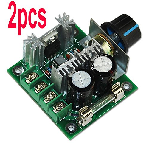 2pcs 10a 12v-40v Dc High Efficiency High Torque Current Protective Electric Motor Speed Pwm Controller by Ligiloi