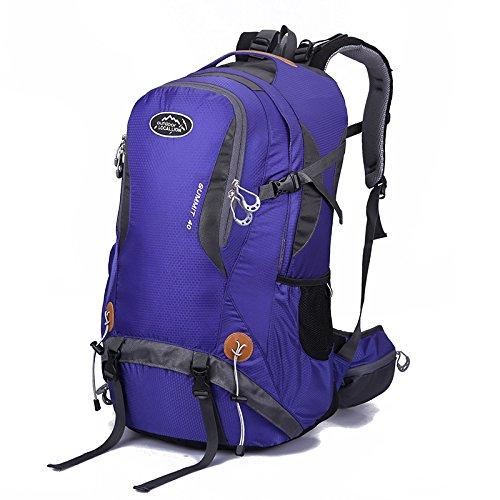 bleu  CX Best Sac à Dos de Sport en Plein air Camping randonnée Sac à Dos étanche Sac d'alpinisme avec Housse de Pluie pour Voyager Trekking,rouge