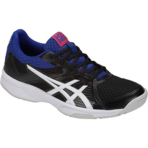 ASICS Women's Upcourt 3 Volleyball Shoes, Black/White, Size 8 by ASICS