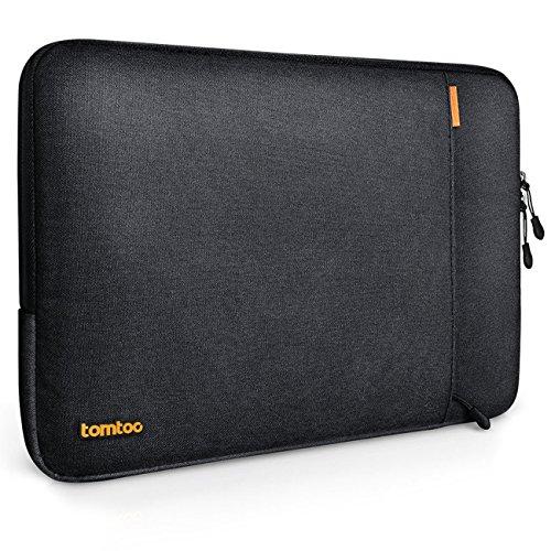 Tomtoc 360° Schutzhülle für 13 Zoll MacBook Pro Retina/12,9 Zoll iPad Pro, Stoßfester Stoff Laptop Schutztasche, Spritzwasserfest, Schwarz