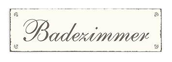 Badezimmer Türschild | Schild Dekoschild Badezimmer Shabby Vintage Holzschild Turschild
