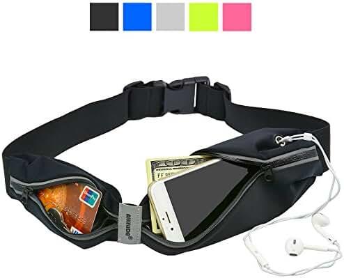 AIKELIDA Running Belt, Sports Workout Fanny Pack, Reflective Waist Pack for Men & Women During Running Hiking Cycling Climbing Travel Fits Most Smartphones