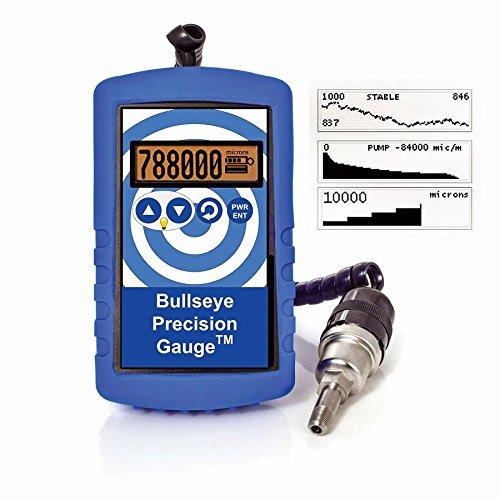14303-01 - Bullseye Handheld Vacuum Gauge, Ace Glass Incorporated - Bullseye Precision Digital Vacuum Gauge, uses (4) AA Alkaline Batteries - Each