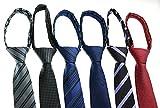 zipper ties for men - Tiger Mama 6pcs Zipper Skinny Tie Pre-tied Business Skinny Necktie Mixed Lot