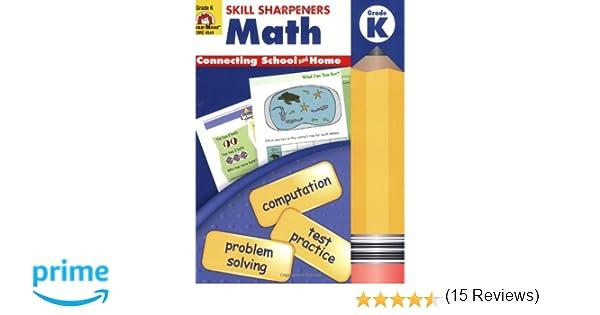 Amazon.com: Skill Sharpeners Math, Kindergarten (0234720454472 ...