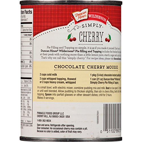 Wilderness Simply Pie Filling & Topping, Cherry, 21 Ounce (Pack of 8) by Wilderness (Image #1)