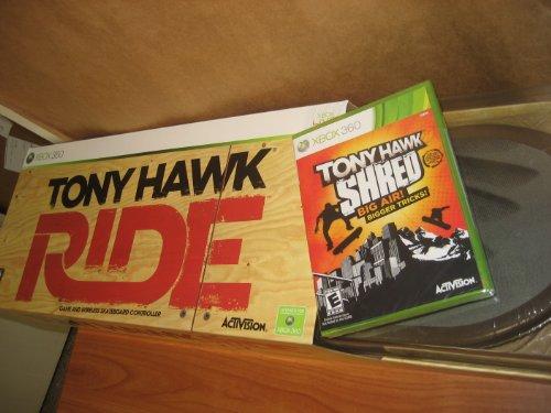 Xbox 360 Tony Hawk: Ride Skateboard with Tony Hawk: Shred Game (Tony Hawk Skateboard Game)