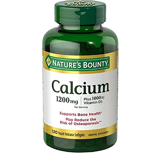 Nature's Bounty Calcium Plus Vitamin D 1200mg, 120 Softgels (Pack of 2)