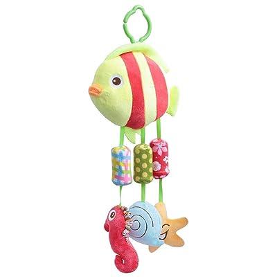 Infant Baby Rattle Toys, Newborn Baby Kids Stroller Car Crib Seat Hanging Bell Toys Soft Cartoon Animals Plush Dolls Toys for Newborn Infant Birthday Present(01#) : Baby