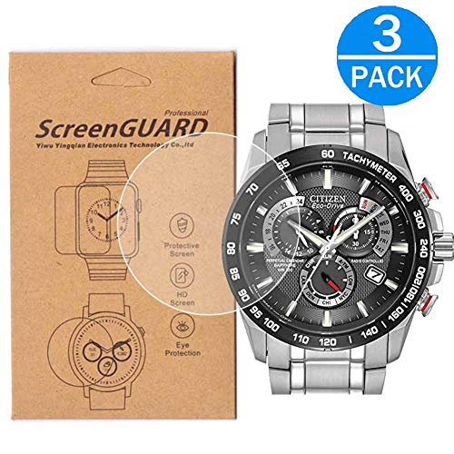 51e Watch - [3-Pack] for Citizen AT4008-51E Screen Protector,Full Coverage HD Clear Anti-Bubble and Anti-Scratch