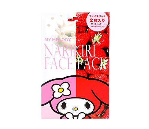 My Melody Narikiri Face Mask Pack: Strawberry & Milk (Pack Face Strawberry)