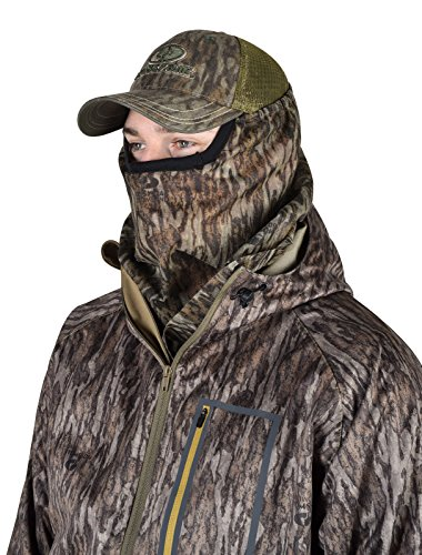 Mossy Oak 3/4 camo Head net mesh hunting mask turkey deer Face MO-34CH-BL (Turkey Net Head)