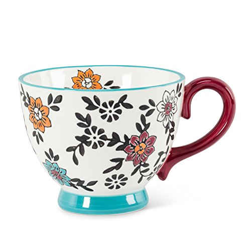 Abbott Collection 27-Chintz/Cup 07 Floral Handled - Pedestal Mug Cup