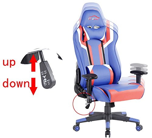 Top Gamer Gaming Chair PC Computer Game Chairs for Video Game (Blue/Red/White,2) by Top Gamer (Image #2)