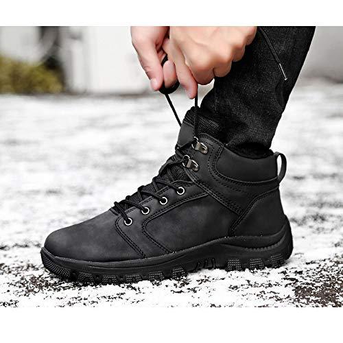Black Totalmente Gamuza Aire Cordón Invierno Piel Senderismo Hombres Libre Los De Antideslizante Trabajo Botines Botas Zapatos Al Cálida XqSnYOTH