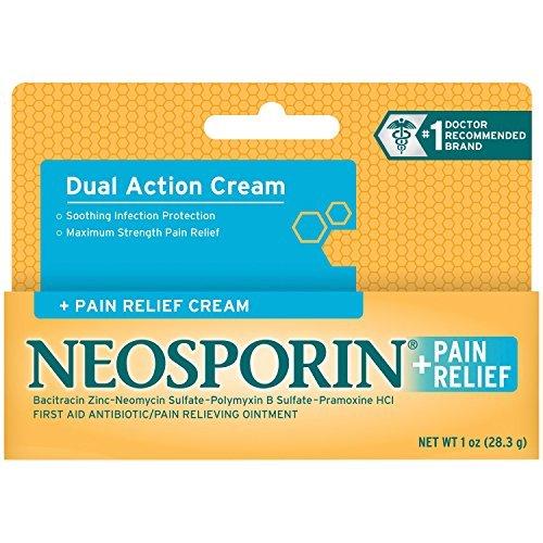 - Neosporin First Aid Antibiotic Cream Maximum Strength Pain Relief, 1-Ounce by Neosporin