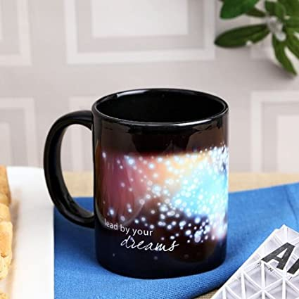 Hot Muggs Lead by your dreams Ceramic Mug, 350ml Cups, Mugs & Saucers at amazon