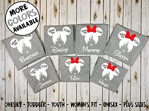 CASTLE Shirts, Halloween shirts, Minnie and Mickey heads, Family vacation shirts, Mickey not so scary Halloween ()