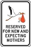 Accuform Signs FRP358RA Engineer Grade Reflective Aluminum Designated Parking Sign, Legend