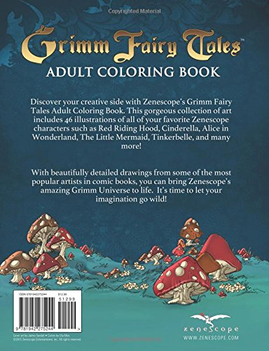 Grimm Fairy Tales Adult Coloring Book Zenescope Jamie Tyndall Mike Krome J Scott Campbell Dawn McTigue 9781942275244 Amazon Books