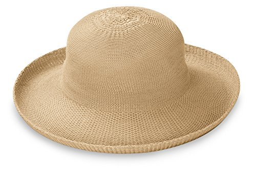 Wallaroo Women's Petite Victoria Sun Hat - Perfect for Smaller Heads!, Tan. (Hat Sizes Womens)