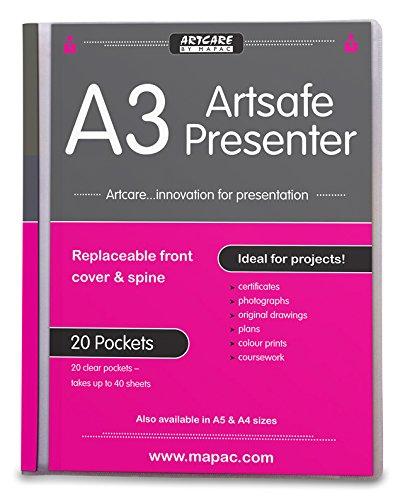 Artcare 1570201044x 2x 33cm A3synthetic material Artsafe Presenter, trasparente Mapac
