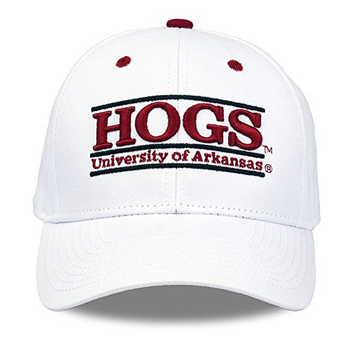 (NCAA Arkansas Razorbacks Unisex NCAA The Game bar Design Hat HOGS, White,)
