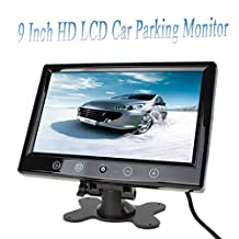 9-Inch Hi-Resolution Widescreen Headrest Monitor, LCD Monitor Stand and Shroud with RCA Connectors
