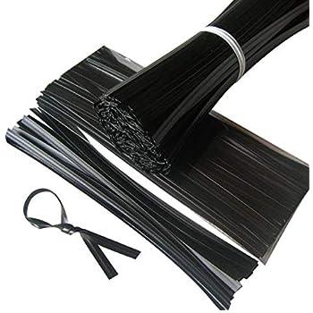 "2,000 PLASTIC TWIST TIES BLACK 6/""  GENERAL USE."