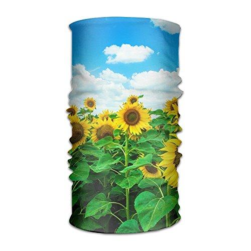 Sunflower In The Blue Sky Headwrap Unisex Multifunction Headwear Polyester Quick Dry Soft Headband Neck Scarf,Premium Headdress Outdoors Magic Head Scarf Bandana Mask Neck Gaiter For Men Women