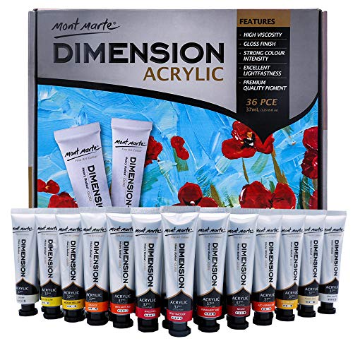 Mont Marte Dimension Acrylic Paint Set 36 pce x 37ml